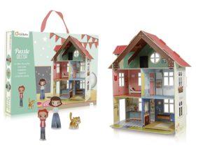 casita muñecas carton juego simbolico